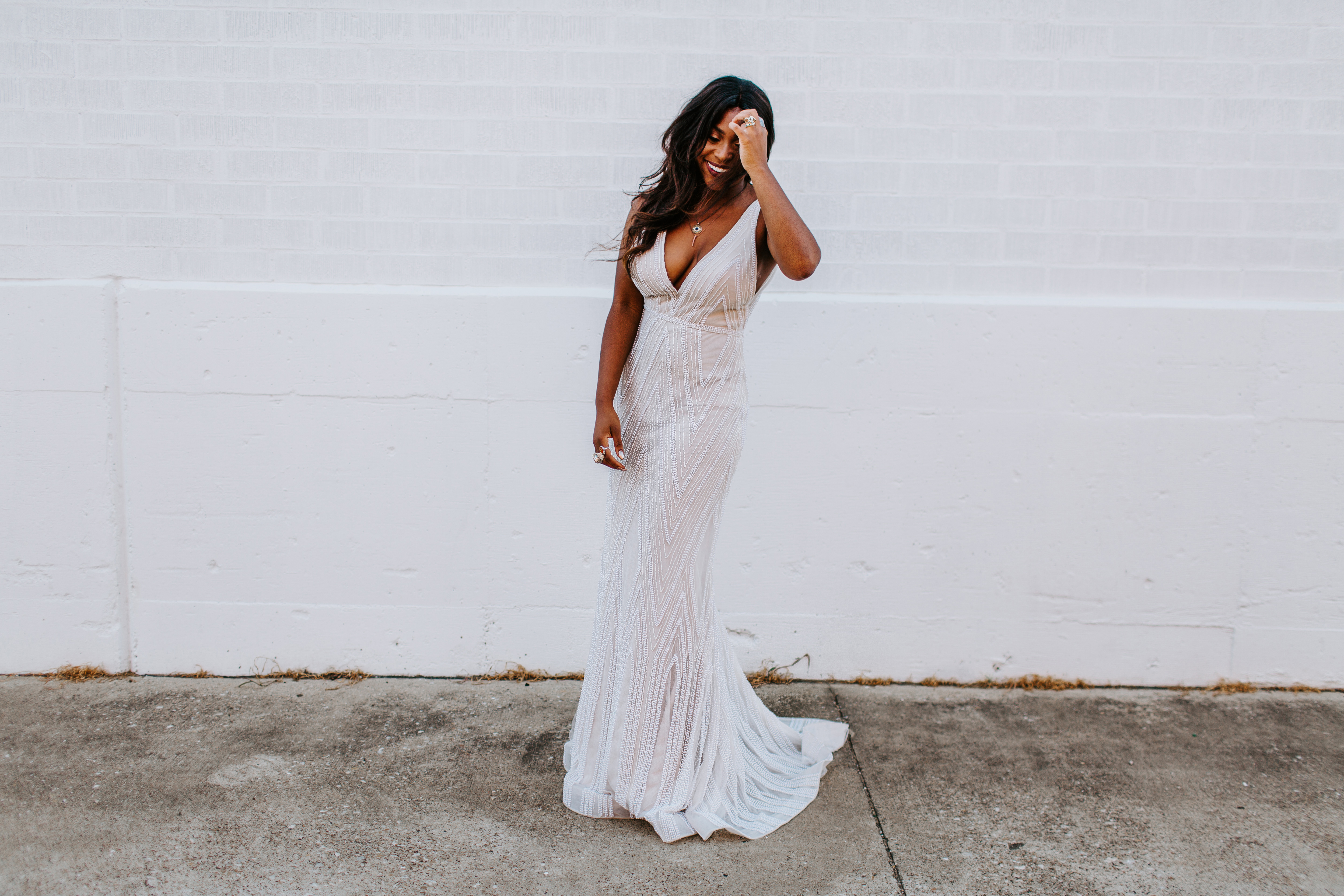 Karis Renee at A & Bé Bridal shop wedding dresses